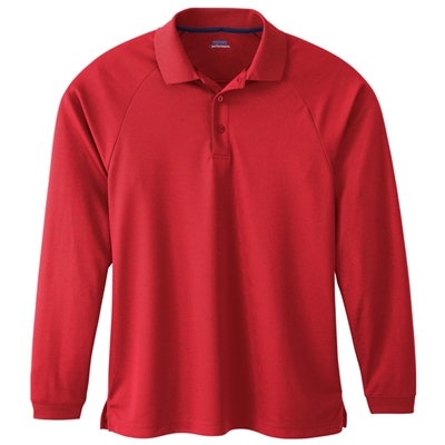 TCi5028<br>Men's Moisture Wicking Long Sleeve Polo