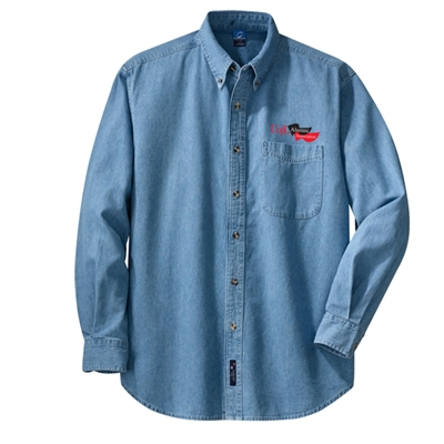 AUL178<br />Long Sleeve Denim Shirt