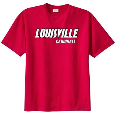 "AUL150<br />Red ""Louisville Cardinals"" T-Shirt"