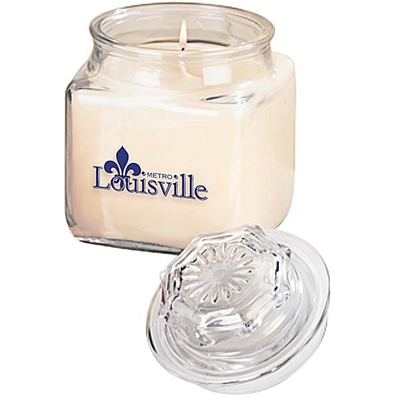 LMS142 <br />Serenity Candle 18 oz. Square Glass Jar
