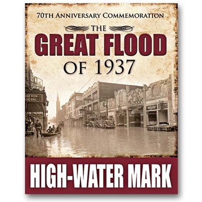 LMS90 <br />High-Water Mark Sign - Commemorating The Great Flood of 1937