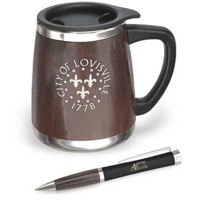LMS19 <br />Bosque Mug and Pen Gift Set