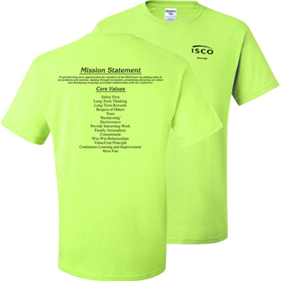 IS324<br />Mission Statement Safety Yellow Tee