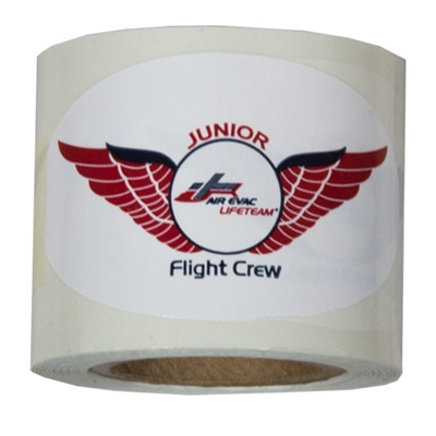 AEL031<br>Oval Junior Flight Crew Sticker