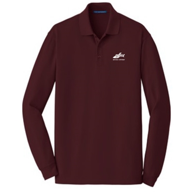 AEL104/K8000LS<br>Port Authority EZ Cotton Long Sleeved Polo