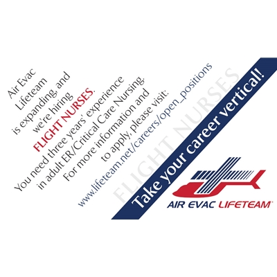 AEL814<br>Air Evac Nurse Recruitment Cards