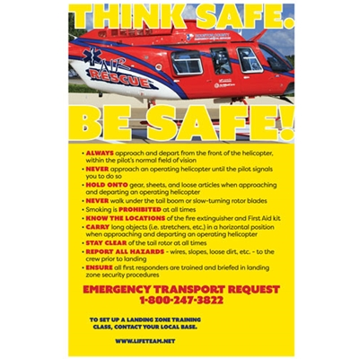 AIR823<br>Air Rescue LZ Posters Red