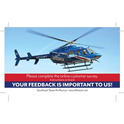 SAR825<br>Air Rescue Feedback Cards - Blue