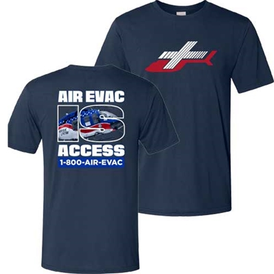 AEL236<br>Air Evac is Access Tee - Navy