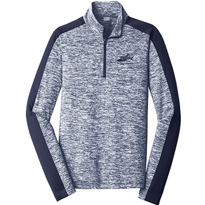 AEL160/ST397<br>Sport-Tek® PosiCharge® Electric Heather Colorblock 1/4-Zip Pullover