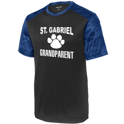 SG606/ST371<br>Grandparent Camohex Colorblock Tee
