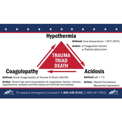 "AEL310<br>3""x 5"" Hemorrhagic Shock CARD (Pack of 50)"