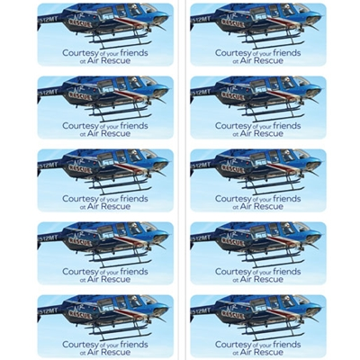 SAR816<br>Air Rescue Stickers - Blue