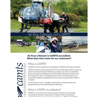 AEL840<br>Air Evac CAMTS Flyer