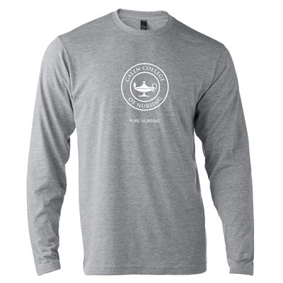 GC94<br>Long Sleeve Heather Grey Pure Nursing Tee