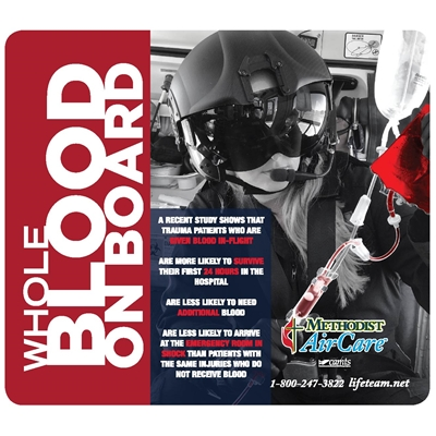 MAC295<br>Blood on Board Mousepad