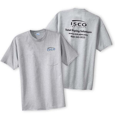 IS114<br />Sport Gray T-Shirt with Pocket