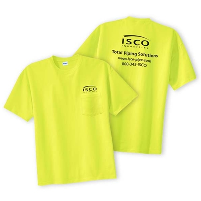 IS116<br /> ISCO Safety Green Tee with Pocket